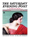 """Exotic Woman,"" Saturday Evening Post Cover, November 18, 1933 Giclee Print by Wladyslaw Benda"