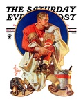 """Football Hero,"" Saturday Evening Post Cover, November 4, 1933 Giclee Print by Joseph Christian Leyendecker"