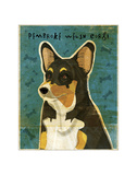 Pembroke Welsh Corgi (Tri-Color) Giclee Print by John Golden