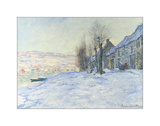 Lavacourt, under Snow, ca. 1878-1881 Giclee Print by Claude Monet