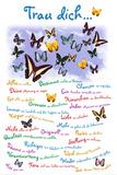 Trau Dich ... Schmetterlinge Plakaty