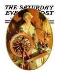 """Spinning Wheel,"" Saturday Evening Post Cover, March 14, 1931 Giclee Print by Joseph Christian Leyendecker"