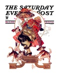 """Begging for Turkey,"" Saturday Evening Post Cover, December 2, 1933 Giclee Print by Joseph Christian Leyendecker"