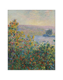 Flower Beds at Vetheuil, 1881 Giclee Print by Claude Monet