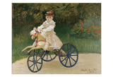 Jean Monet on his Hobby Horse, 1872 Lámina giclée por Claude Monet