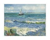 The Sea at Les Saintes-Maries-de-la-Mer, 1888 Impressão giclée por Vincent van Gogh