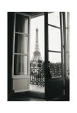 Eiffel Tower through French Doors Wydruk giclee autor Christian Peacock
