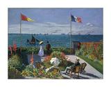Jardin a Sainte-Adresse, 1866/1867 Giclee Print by Claude Monet