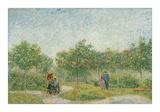 Garden with Courting Couples: Square Saint-Pierre, 1887 Impression giclée par Vincent van Gogh