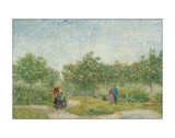 Garden with Courting Couples: Square Saint-Pierre, 1887 Giclee Print by Vincent van Gogh