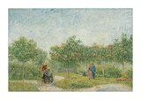 Garden with Courting Couples: Square Saint-Pierre, 1887 Giclée-Druck von Vincent van Gogh