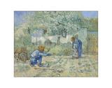 First Steps - After Millet, 1890 Giclée-tryk af Vincent van Gogh