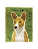 Basenji (Red) Giclee Print by John Golden