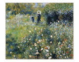 Woman with a Parasol in the Garden, 1875 Giclee Print by Pierre-Auguste Renoir