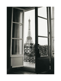 Eiffel Tower through French Doors Giclee Print by Christian Peacock