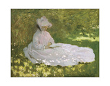 Springtime, 1872 Giclee Print by Claude Monet