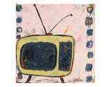 Yellow TV Giclee Print by Brian Nash