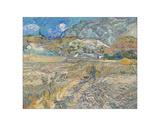 Landscape at Saint-Re?my (Enclosed Field with Peasant), 1889 Giclée-tryk af Vincent van Gogh