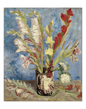 Vase with Gladioli and China Asters, 1886 Giclee Print by Vincent van Gogh
