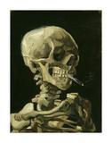 Vincent van Gogh - Head of a Skeleton with a Burning Cigarette, 1886 Digitálně vytištěná reprodukce