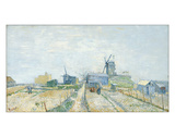 Montmartre: Windmills and Allotments, 1887 Lámina giclée por Vincent van Gogh