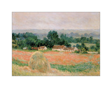 Haystack at Giverny, 1886 Reproduction procédé giclée par Claude Monet
