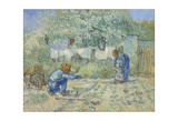 First Steps - After Millet, 1890 Giclee Print by Vincent van Gogh