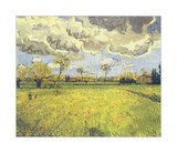Meadow with Flowers under a Stormy Sky, 1888 Giclee Print by Vincent van Gogh