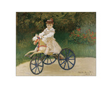 Jean Monet on his Hobby Horse, 1872 Giclee Print by Claude Monet