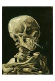 Head of a Skeleton with a Burning Cigarette, 1886 Giclee Print by Vincent van Gogh