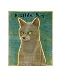 Russian Blue Giclee Print by John Golden
