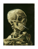 Head of a Skeleton with a Burning Cigarette, 1886 Gicle-tryk af Vincent van Gogh