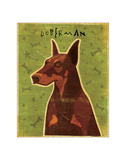 Doberman (Red) Giclee Print by John Golden