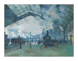 Arrival of the Normandy Train, Gare Saint-Lazare, 1877 Lámina giclée por Claude Monet