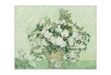 Vase with Pink Roses, 1890 Reproduction procédé giclée par Vincent van Gogh