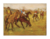 Before the Race, between 1882 and 1884 Giclee Print by Edgar Degas