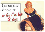 The Vino Diet Tin Sign
