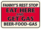 Fanny Rest Stop Tin Sign