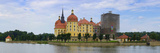 Panoramic View of Moritzburg Castle Near Dresden Photographic Print by Ullrich Gnoth