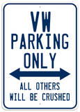 VW Parking Cartel de chapa