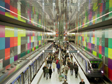 Metro Station Georg-Brauchle-Ring Munich Photographic Print by Christian Bullinger