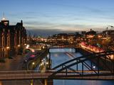 Hamburg S Warehouse District Photographic Print