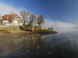 Zollenspieker Ferry House at River Elbe in Hamburg Photographic Print by Christian Ohde