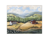 The Hills of Home Giclee Print by Barbara Jeffords