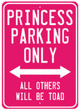Princess Parking Cartel de chapa