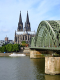 Hohenzollernbrucke Bridhge over the Rhein River Cologne Photographic Print
