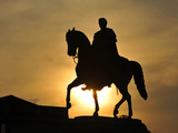 Equestrian Statue in Dresden Photographic Print