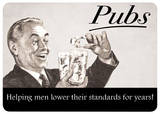Pubs Tin Sign