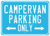 Camper van Tin Sign