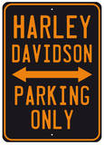 Harley Parking Cartel de chapa